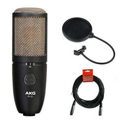 AKG Project Studio P420 Condenser Microphone w Pop Filter & 20' XLR Cable