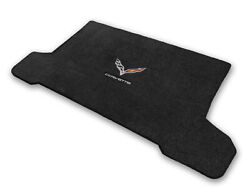 C7 Stingray Zr1 And Z06 Convertible Jet Black Trunk Mat - Flags And Corvette Logos