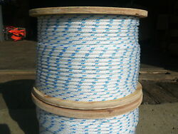 Novatech Xle Halyard Sheet Line Sailboat Rope 1/4 X 600and039 White/blue Full Reel