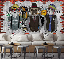 3d Cool Fashion Dogs 6 Wall Paper Exclusive Mxy Wallpaper Mural Decal Indoor Aj