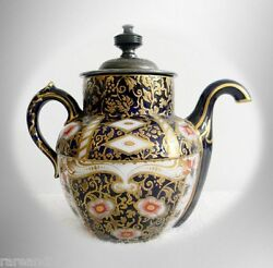 Doultonand039s Royles Self Pouring Teapot Ca 1886 - Imari Gold And Floral