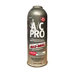 AC PRO Professional R134a AC Refrigerant with Max Seal 12 oz