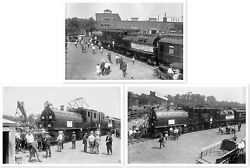 Chicago Milwaukee And St. Paul 10252 Electric Locomotive 1924 Photo Set Of 3