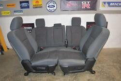 13-18 Dodge Ram Front And Rear Seat Slate Gray Set Oem Good Condition Full 4 Door