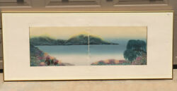 Stunning Lg Vintage Woodblock Diptych Double Print Signed Lihe Numbered 16/175