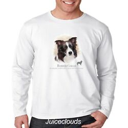 Border Collie Long Sleeve Shirt Puppy Pet Rescue Dog Owner Men's Tee