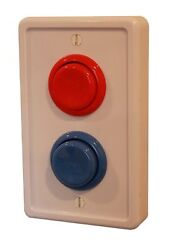 (WhiteRedBlue) - Arcade Light Switch Plate Cover Single Switch
