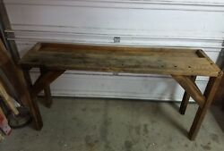 Vintage Antique Carpenter Cabinet Maker Workbench Hall Sofa Couch Table