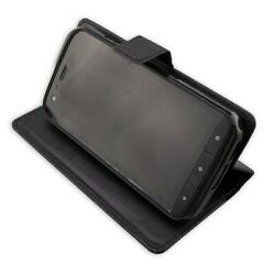 caseroxx Bookstyle-Case for Cat S61 in black made of faux leather