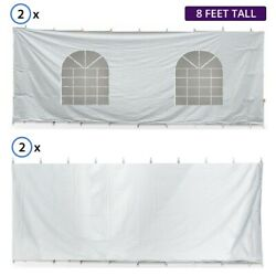 8'h 20x20' High Peak Tent Sidewall Kit Solid And Cathedral Window 16 Oz Block-out
