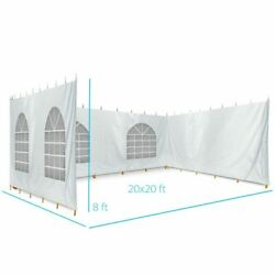 8fth 20x20 High Peak Tent Sidewall Kit Solid And Cathedral Window 16oz Blockout