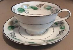 Noritake Lynwood Footed Cup And Saucer - 5307 Vintage Discontinued