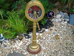 Brass Ships Telegraph Engine Room Post 95 Cm Tall Vintage Nautical Captain A