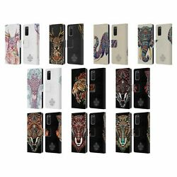 Official Bioworkz Coloured Animal Head 1 Leather Book Case For Samsung Phones 1