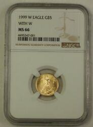 1999-w Emergency Issue 5 American Gold Eagle Age Coin Ngc Ms-66 Gem