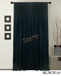SAARIA DECORATIVE VELVET CURTAIN PANEL CONVENTION PHOTOGRAPHY DRAPES 5FT WIDE