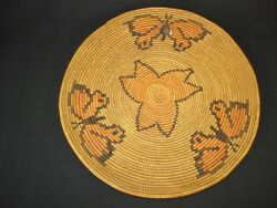 A Southwest Indian Butterfly Tray Basket Native American Circa 1920
