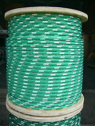 Novatech Xle Halyard Sheet Line Dacron Sailboat Rope 3/8 X 148and039 Green/white