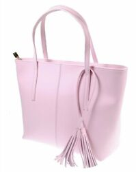 The Kyra Collection Womens Genuine Leather Satchel Purse Shoulder Bag Pink $29.95