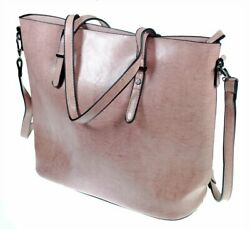 The Kyra Collection Womens Satchel Purse Shoulder Tote Bag Pink $12.95