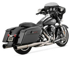 Vance & Hines Hi-Output Stainless Duals Exhaust For 2010-2011 Harley FLHXXX