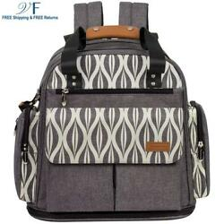 Lekebaby Expandable Diaper Bag Backpack Tote Messenger Bag for Mom and Girl in G