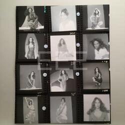 Catherine Bach Contact Sheet Photographer Harry Langdon Embossed Stamp Photo 40L