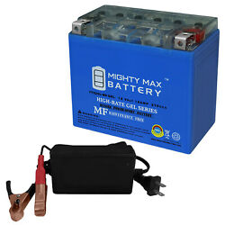 Mighty Max Ytx20l-bs Gel Replaces Triumph Big Bore 1700 10-13 + 12v 4amp Charger