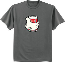 Big And Tall T-shirt Funny Beer Can Decal Tee King Size Mens Shirts