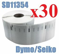 30 X Rolls Labels For Dymo Seiko 11354 57mm X 32mm Labelwriter 450/450 Turbo