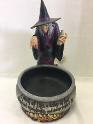 """Nwt Retired 2009 Jim Shore Witch's Brew Candy Dish 8"""" Wide 11"""" Tall"""