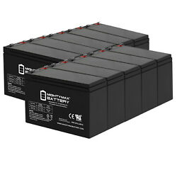 Mighty Max 12v 8ah Battery Replaces Viking T-21 Swing Gate Operator - 10 Pack