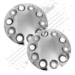 10 Stud Domed Wheel Nut Covers, 22.5 Pair For Steel Wheels Only