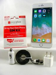 Apple Iphone 6 Plus - 64gb Gold Page Plus Cdma 4g Activation Kit + Sim Card