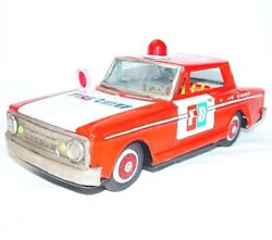 Mf-204 China 118 Fire Department Chief Emergency Tin Friction Car 27cm Nm`70