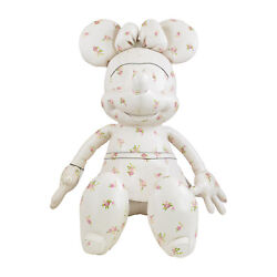Nwt Coach X Disney Limited Edition Minnie Mouse Doll Plush In Ivory Flowers