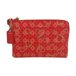 Nwt Coach Heart Small Wristlet 51230 Love Red On Sale