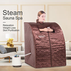 2L Portable Personal Therapeutic Steam Sauna SPA Slim Detox Weight Loss Home Red