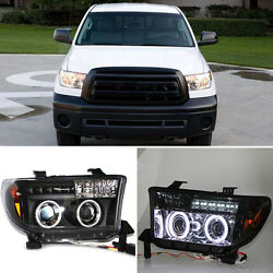 For Toyota Tundra 07-11 Angel Eyes Headlights +Cornering Lamps+HighLow Lamp NEW