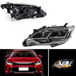 For Toyota Camry 13-15 Lens LED Light Pipe+HID Xenon Headlights Assembly+Ballast