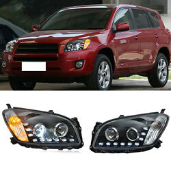 For Toyota RAV4 09-12 LED Lamp BeadHID Xenon Headlights Assembly HighLow Beam