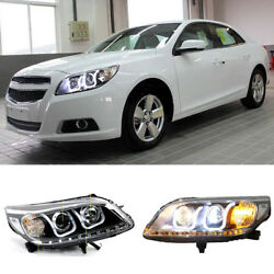 For Chevrolet Malibu 12-15 Headlight Assembly Xenon Projector Lens+Corner Lamps