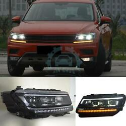 Auto Headlights LED DRL Lens Xenon HeadLamp Assembly For VW Tiguan ALLspace 2017