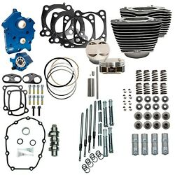 Sands 124 M8 Power Package Big Bore Highlighted Chain Cam Chrome Pushrod Oil Cool