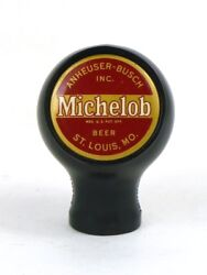 1940s Michelob Beer Selimore Two Insert Bakelite Ball Knob Tap Handle