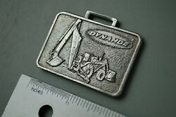 Dynahoe Backhoe Loader Vintage Watch Fob Pewter Color Tractor Hy-dynamic Co