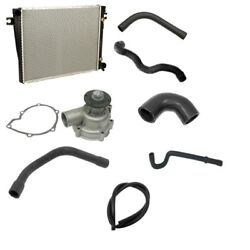 Radiator Auto Trans And Water Pump W/ Hoses Cooling Kit Fits Bmw E24 E28