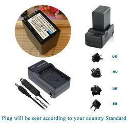 NP-FV100 Battery Home&car Charger For NP-FV70 FV50 FV30 Sony HDR-CX6 CX130 HC9E