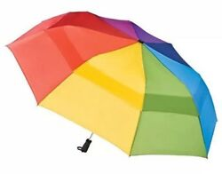 """Rainbow Totes Umbrella XL Extra Large 68"""" Golf Automatic Windproof Vented"""