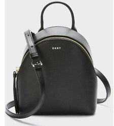 DKNY Bryant Mini Backpack Crossbody Leather Black Purse Bag MSRP $228